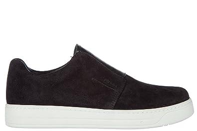 97bf44da Amazon.com | Prada women's suede slip on sneakers black | Loafers ...