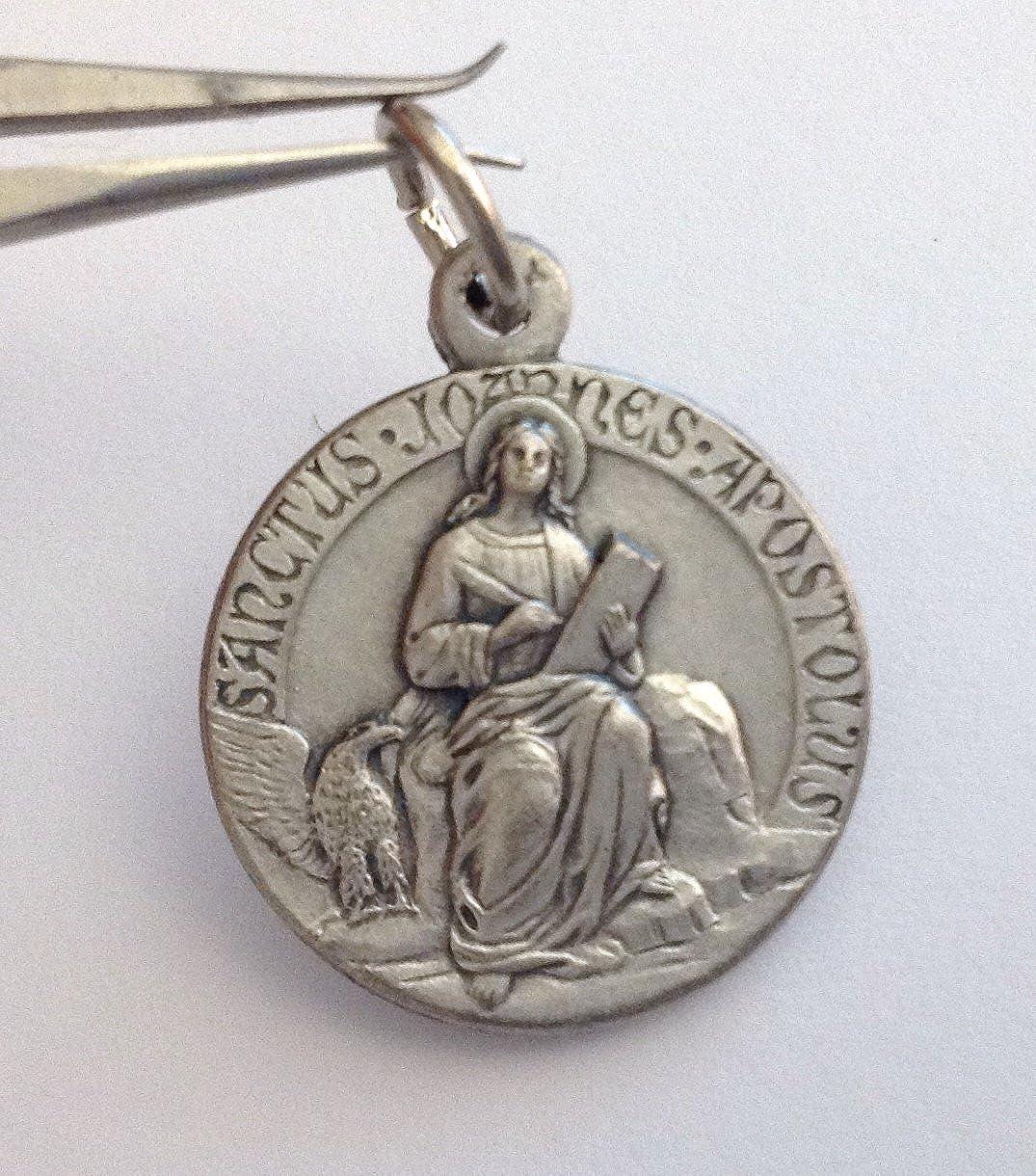 M/édaille de Saint Jean lAp/ôtre et l/évang/éliste Les M/édailles des Saints Patrons