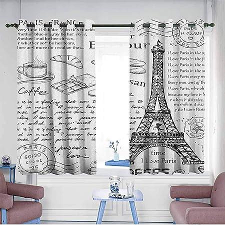 AndyTours - Cortinas para Puerta, diseño de corazón con Texto en inglés Paris Romance Language Capital of Love: Amazon.es: Hogar