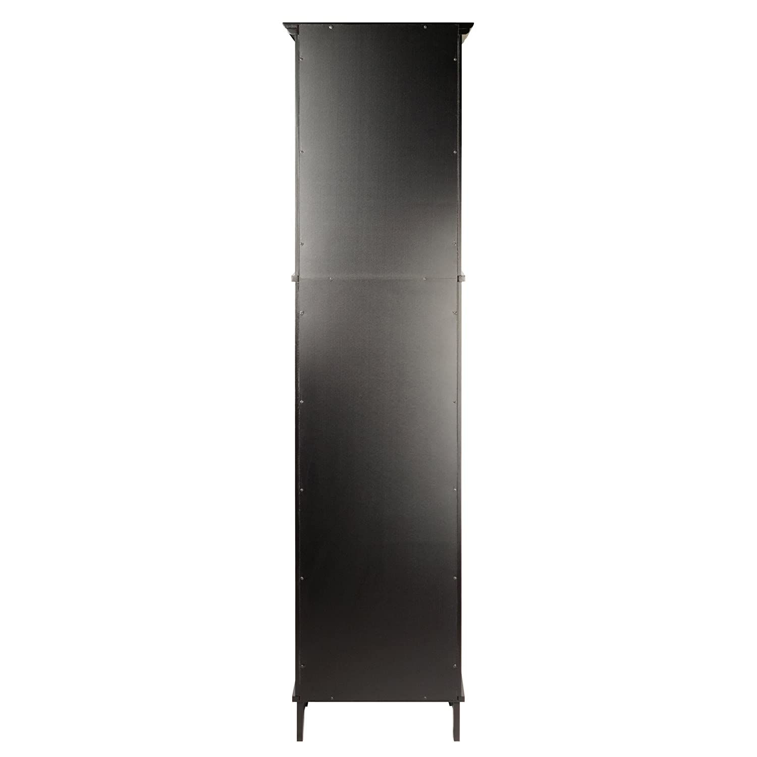 Winsome Wood Alps Tall Cabinet With Glass Door And Drawer Amazon