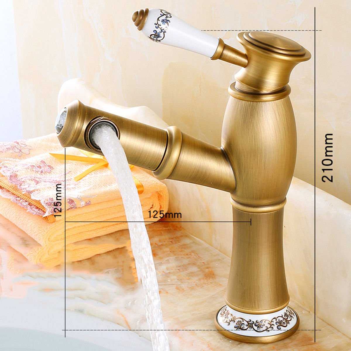 B NewBorn Faucet Kitchen Or Bathroom Sink Mixer Tap Black Water Tap Basin Water Taps For Cold And Hot Face-Down On The Tub Water Tap Antique Wash-Basin Water Water Tap D