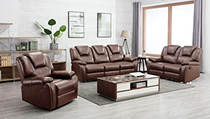 Amazon.com: Blackjack Furniture 7993-BROWN Stefano Modern ...