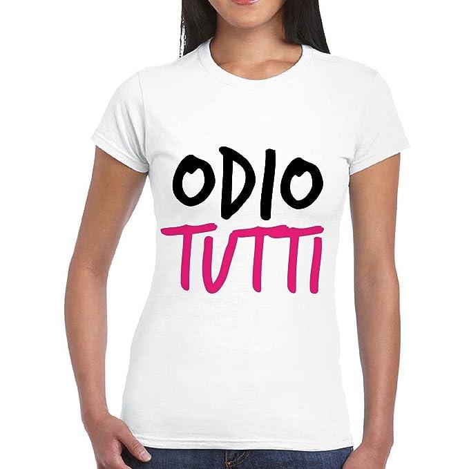 Divertente Frasi Maglietta Shirt Stampa T Maglia Donna Con WHeED29IY