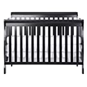 Dream On Me Ashton 5 in 1 Convertible Crib, Black