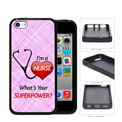 Im A Nurse Whats Your Superpower Quote Red Heart Pink Color