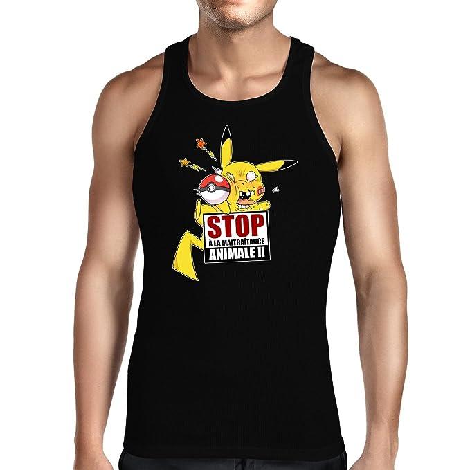 okiWoki Camisetas de Tirantes Parodia de Pikachu de Pokémon (921)
