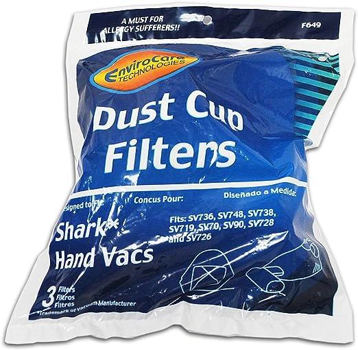 SV70 SV748,SV719 Shark XSB726N Washable Dust Cup Filter  SV736 SV728 SV90