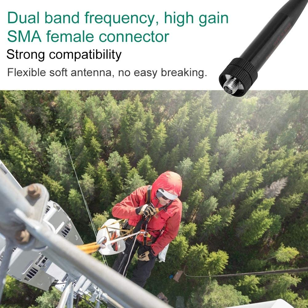 SMA Female Radio Antenna 144//430MHz Dual Band High Gain Walkie Talkie Antenna for Yaesu VX-2R VX-3R VX-8D for BaoFeng UV-3R UV-100 UV-200 for PUXING for TYT for Linton