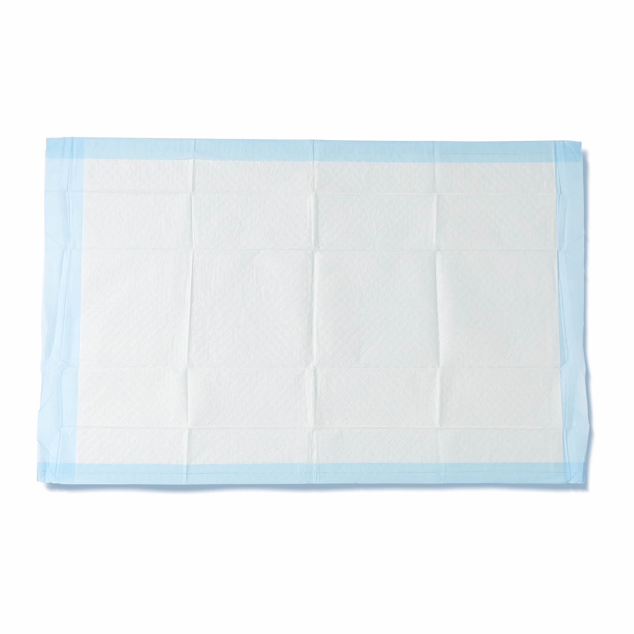 Medline Quilted Basic Disposable Blue Underpad, 23'' x 36'' for Incontinence, Furniture Protection or Pet Pads (Pack of 150) by Medline (Image #1)