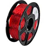 YOYI Flexible TPU Filament 1.75mm Flexible TPU 3D Printer Filament 0.8KG, Diameter Tolerance +/- 0.03 mm, 0.8KG Spool, 1.75 mm TPU Filament (Red)