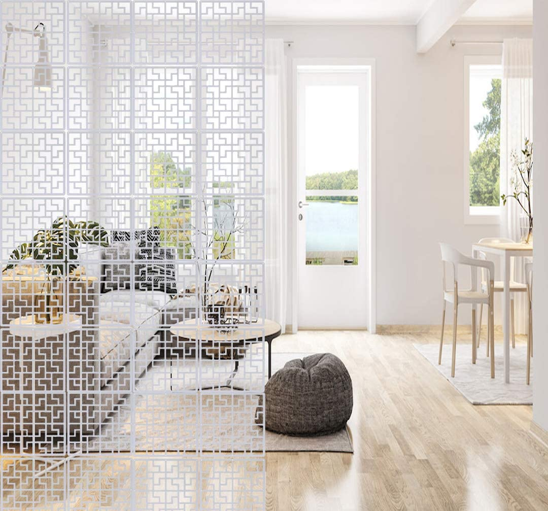 Saim Hanging Room Divider Decorative Panel Screens Wall Partition Separator for Bedroom Living Dining Study Setting Room 8Pcs