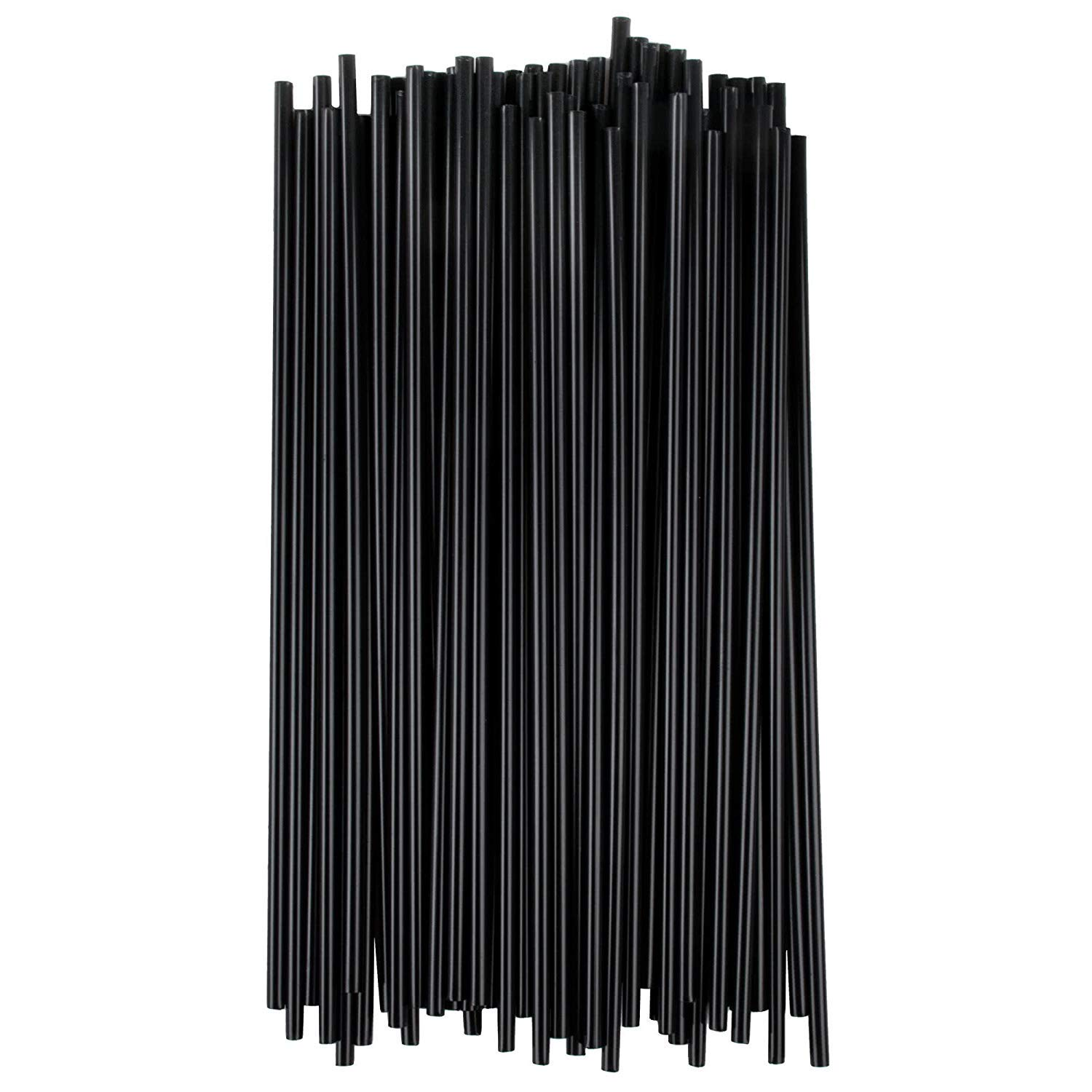 Choice Stirrers/Sip Straws for Coffee, Cocktail 7 1/2'' Unwrapped (Black, 10 000)