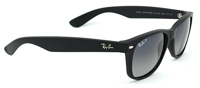 6d828166b8 Image Unavailable. Image not available for. Color  Ray-Ban RB2132 601S78 Wayfarer  Black   Polarized Blue Gradient Lens 52mm