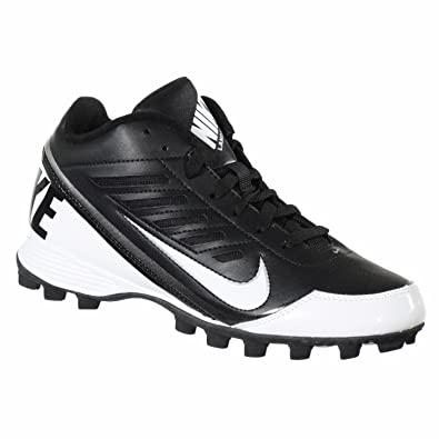 cda331d20 Amazon.com  Nike Boy s GS Land Shark 3 4 Football Cleats-Black White-2.5   Shoes