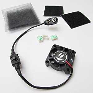 "1.5"" mini Cooling Fan Kit Airsoft Mask/Paintball Helmet Tiny 9V Battery Operated"