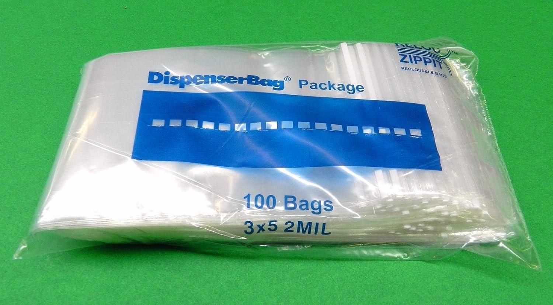 "Top Quality 100 4/""X5/"" Clear Reclosable Bag Zip Lock Bags 2mil ZipLock Storage"