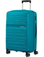 American Tourister 107527 Sunside Expandable Spinner Travel Suitcase, 68 cm Height, Teal, 68 Centimeters