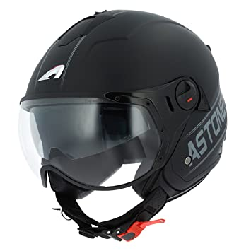 Astone Helmets minisportg-bgrxs casco Moto Minijet Sport Cooper, Negro/Gris, talla