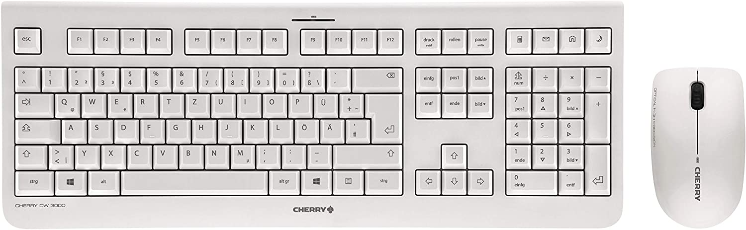 Cherry DW 3000 Keyboard RF Wireless QWERTZ German Grey