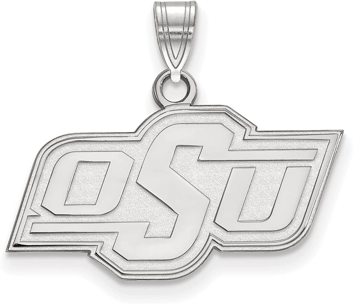 925 Sterling Silver Rhodium-plated Laser-cut University of Arizona Small Pendant w//Necklace 18