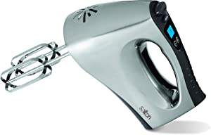 Salton Digital, Powerful 200 Watts with 10 Speed Settings Hand Mixer, 3 pounds, Silver
