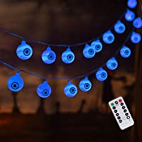 30 LED Halloween Eyeball String Lights, 8 Modes Fairy Lights with Remote, Waterproof Battery Operated Halloween Lights…