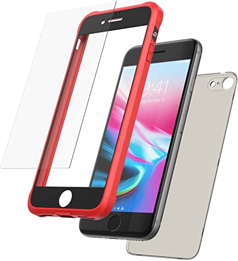 coque iphone 8 rouge silicone