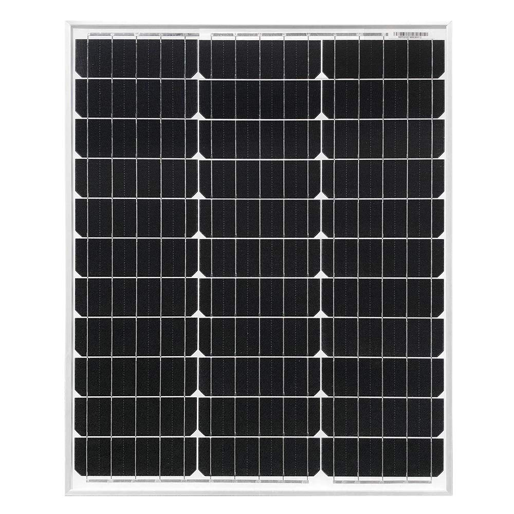 HQST 50 Watt 12 Volt Monocrystalline Solar Panel for RV/Boat/Other Off Grid Applications(50W Compact Design) by HQST (Image #2)