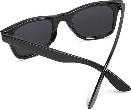 1871237ab7f1 Polarized Lens Black Horn Rimmed Sunglasses. WearMe Pro - Polarized Lens  Black Horned Rimmed Sunglasses ...