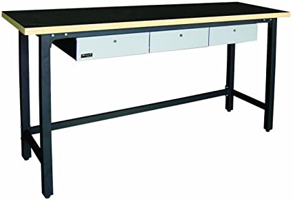 Amazoncom Homak 79 Inch Workbench With 3 Drawers And Wood Top