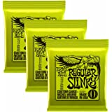 Ernie Ball Regular Slinky Nickel Wound Sets, .010 - .046, Bundle of 3 Sets