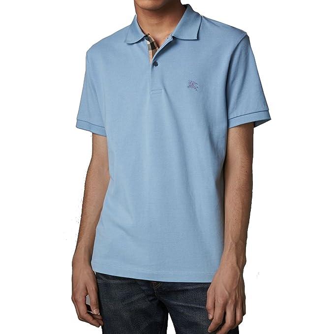 82764c76bf Burberry Polo Uomo - Oxford - Colore Pale Blue: Amazon.it: Abbigliamento