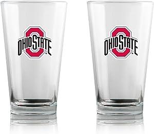 Duck House NCAA Clear Highball Pint Glasses | Premium Glassware | Lead-Free | BPA-Free | 16oz | Set of 2