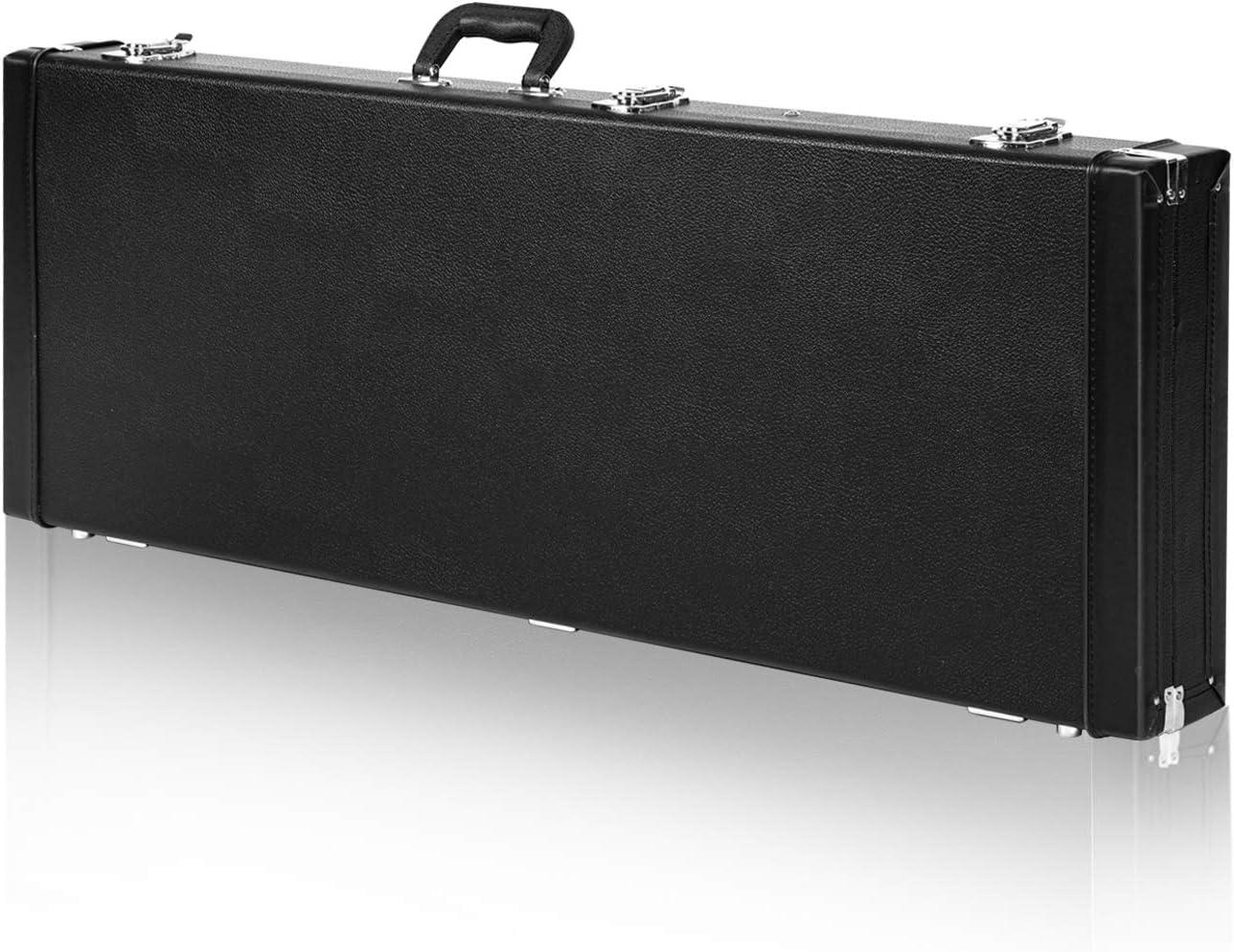 CAHAYA Estuche para Guitarra Electrica con Compartimento Interior Funda Rigida Guitarra Eléctrica Color Negro