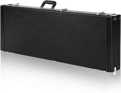 CAHAYA Estuche para Guitarra Electrica con Compartimento Interior Funda Rigida Guitarra Eléctrica Color Negro: Amazon.es: Instrumentos musicales