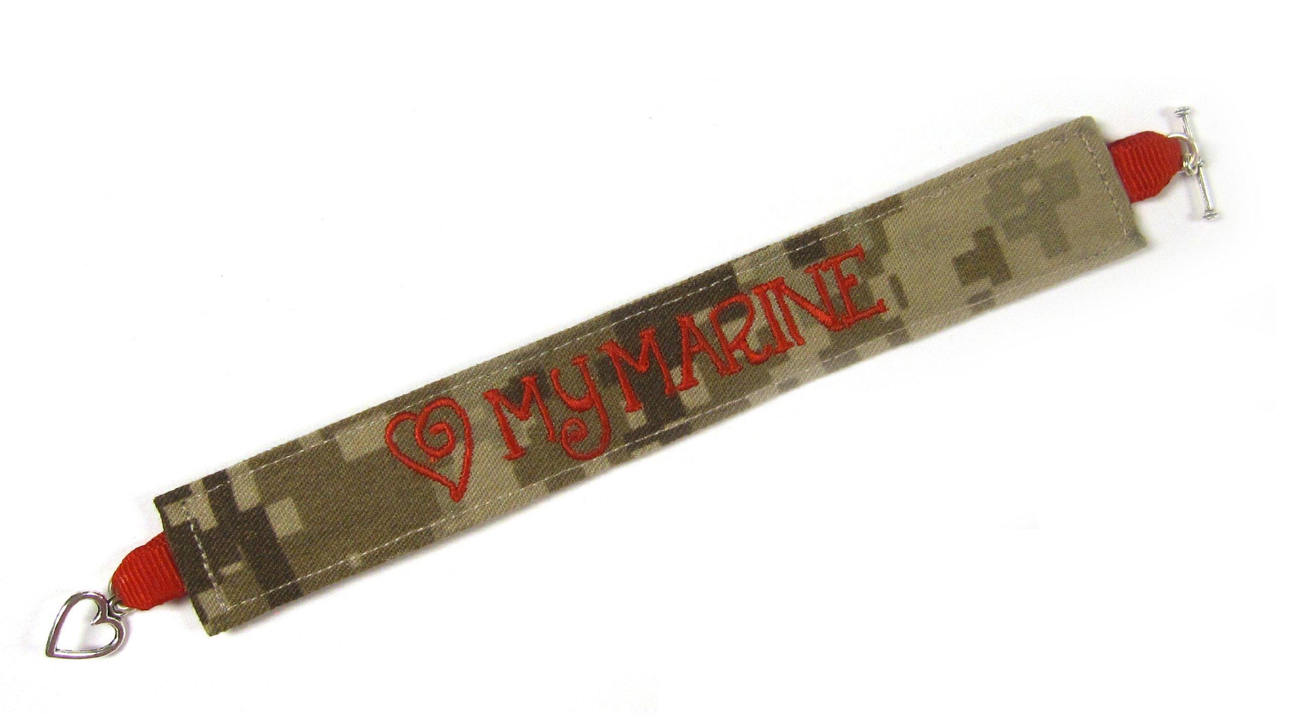 U.S. Marines Name Tape Military Bracelet, Marine Corps Camo Bracelet, USMC Jewelry,U.S. Marines Gifts