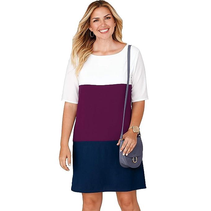 VENCA Vestido diseño Tricolor Piezas by Vencastyle: Amazon.es: Ropa y accesorios