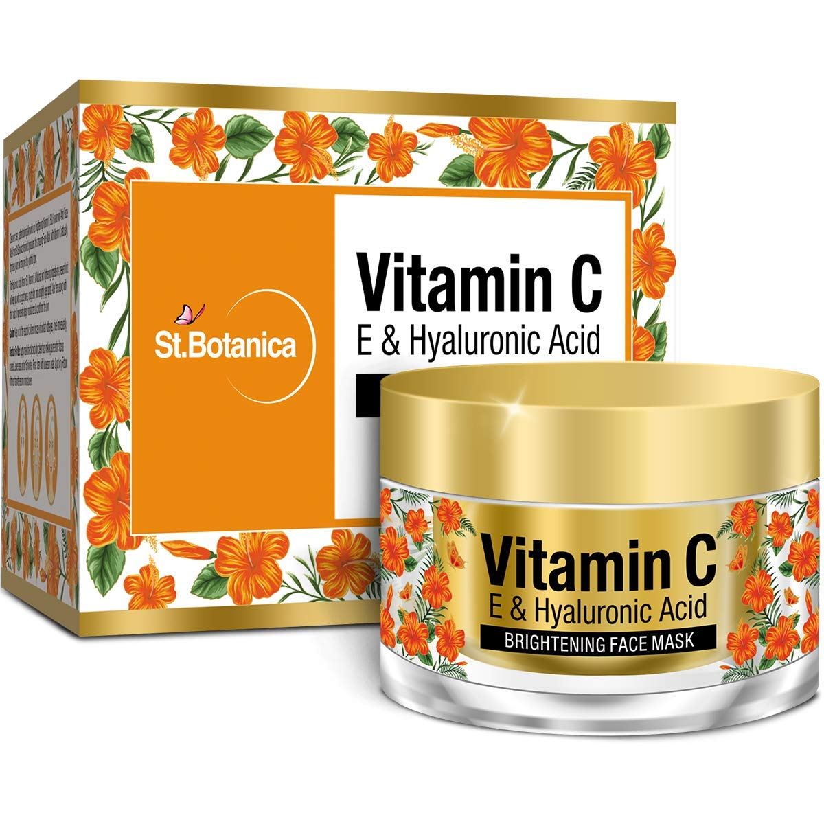 St Botanica Vitamin C, E & Hyaluronic Acid Brightening Face Mask - Instant Glow Face Pack