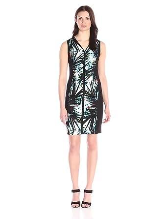T Tahari Women's Avani Dress, Black, 2 at Amazon Women's