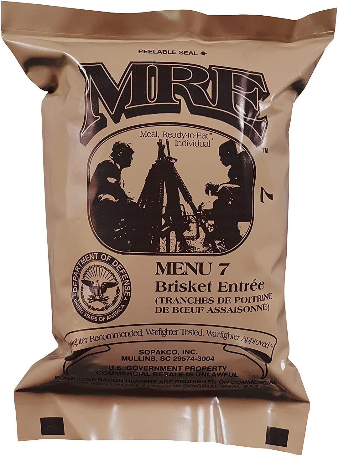 ULTIMATE MRE, Pack Date Printed on Every Meal - Meal-Ready-To-Eat. Inspected by Western Frontier. Genuine Mil Surplus.