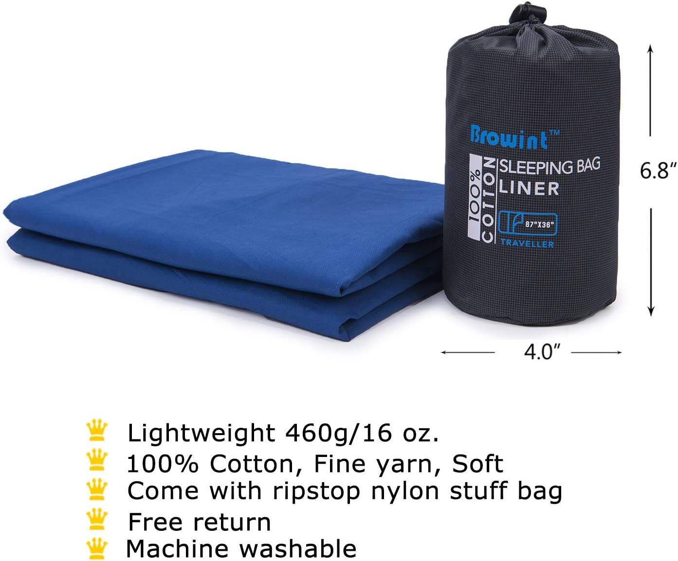 SLEEPING BAG cotton LINER for hostel camping 1 SEASON camp