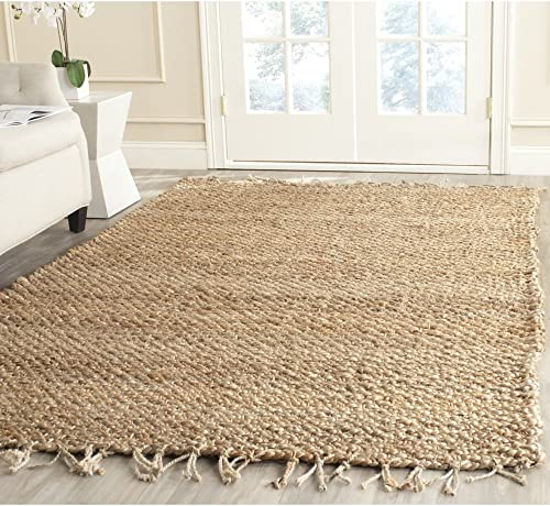 Safavieh Natural Fiber Collection NF733A Hand Woven Natural Jute Area Rug 10' x 14'