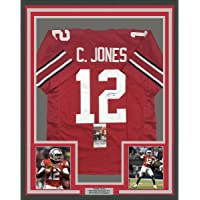 $399 » Framed Autographed/Signed Cardale Jones 33x42 Ohio State Red College Football Jersey JSA COA