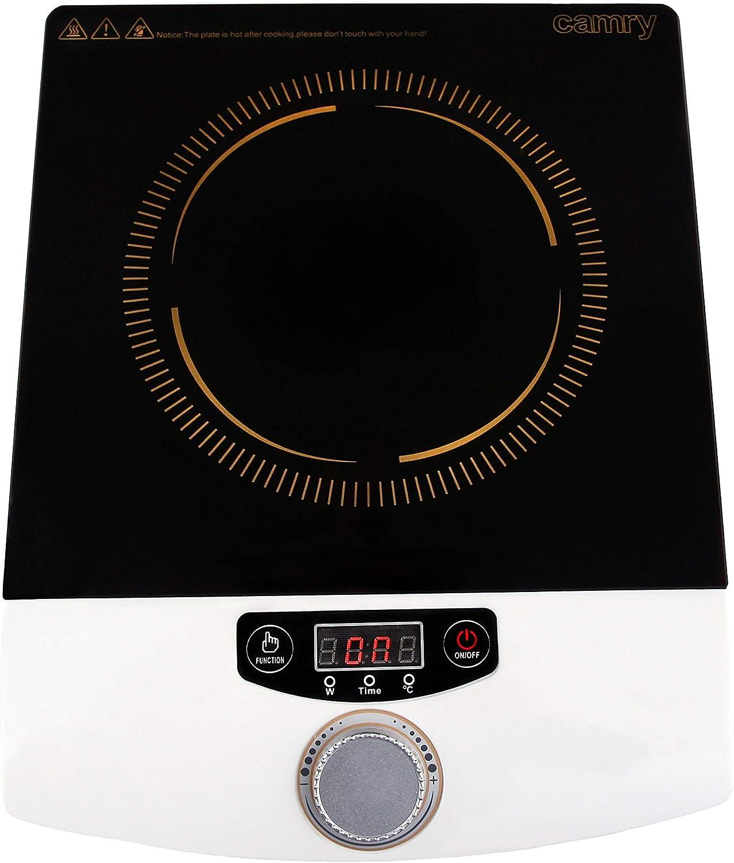 Camry CR6505 Placa de inducción, 1500 W, 0 Decibelios, Plástico ...