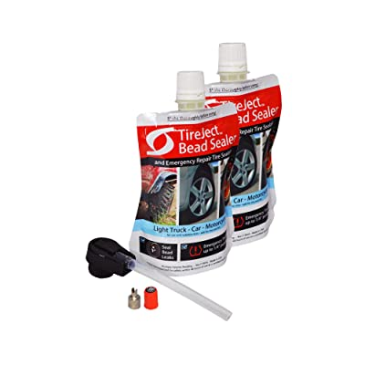 TireJect On-Road Automotive Tire Sealant Single Tire Repair Kit for Bead Leaks and Punctures (Full-Size Truck, SUV): Automotive