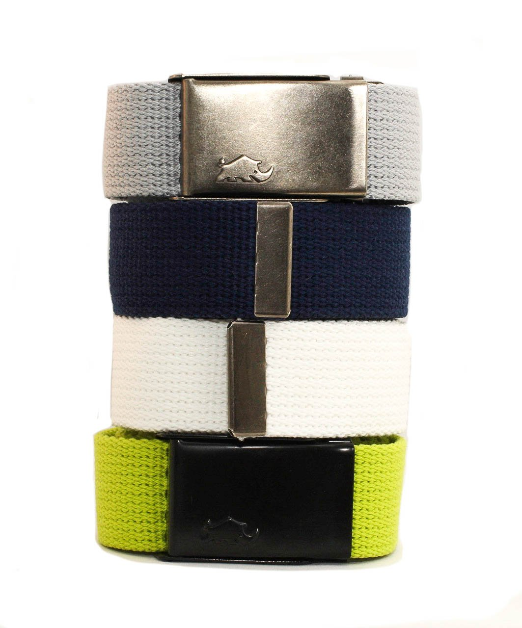 Less is more golf 4x2 Web Pack Belts for woman. 4 belts and 2 buckles. 100% polyester (much better than cotton)
