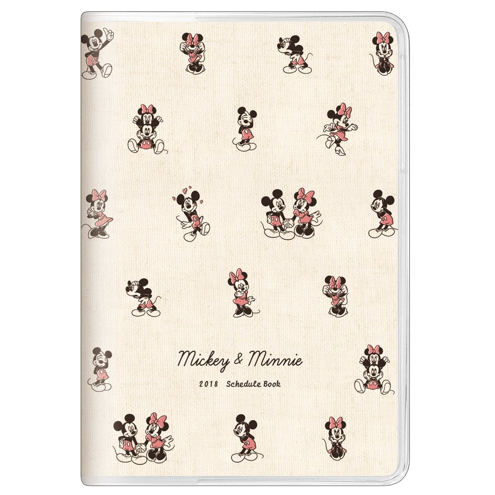 October 2017 To January 2019 Calendar Disney Princess Mickey & Minnie 2018 Monthly Planner notebook A5