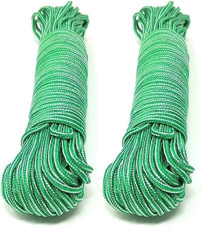 Happy Hogar - Cuerda Trenzada para Tender Ropa - 3 mm - Set de 2