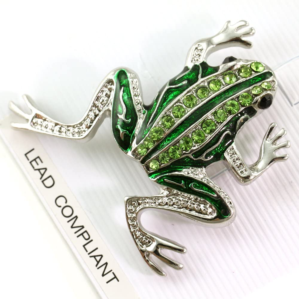 brooch animal clay pin clay frog jewelry Toad jewelry frog present gift pin Animal Green frog frog brooch