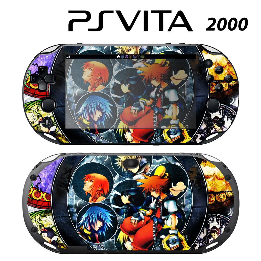 Decorative Video Game Skin Decal Cover Sticker for Sony PlayStation PS Vita Slim (PCH-2000) - Kingdom Hearts